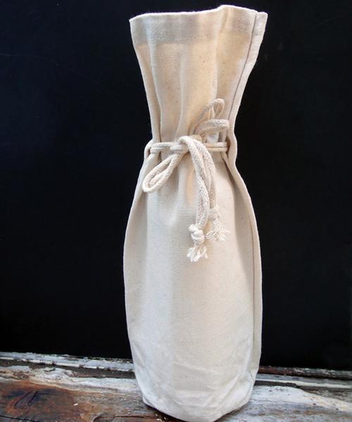 Cotton Canvas Wine Bag