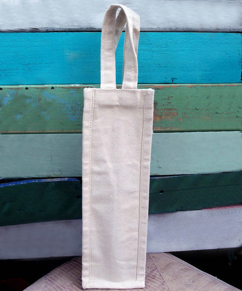 "Cotton Canvas Wine Bag 4""x4""x14""H"