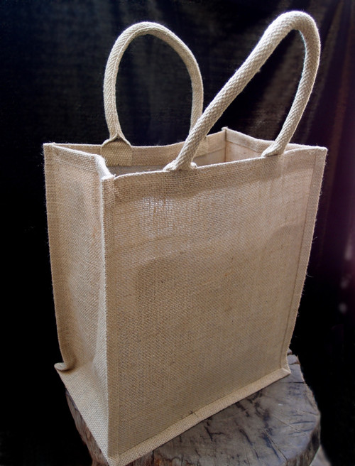 Jute Wine Tote Bag 6-Bottle