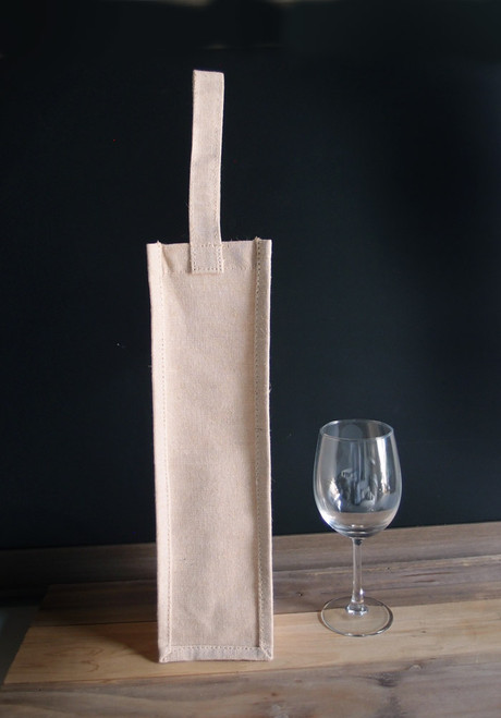 Jute Blend Wine Bag with Natural Handle
