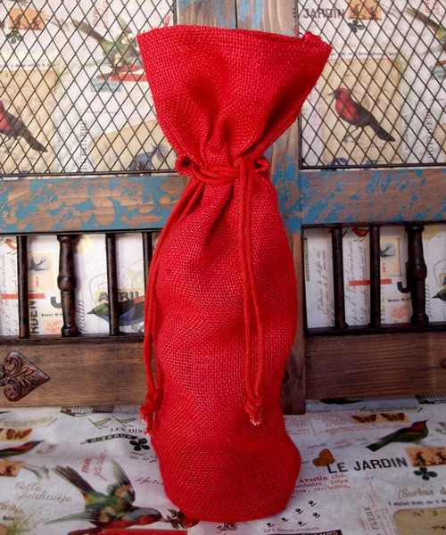 Red Jute Wine Bag, Wholesale Wine Bags, Wine Tote Bags | Packaging Decor