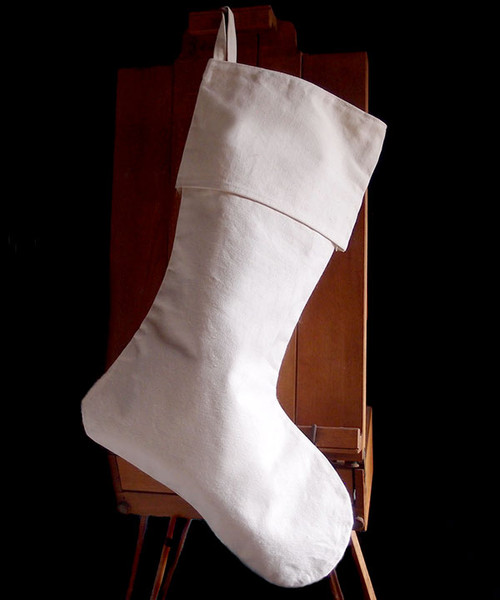Canvas Christmas Stocking 24""