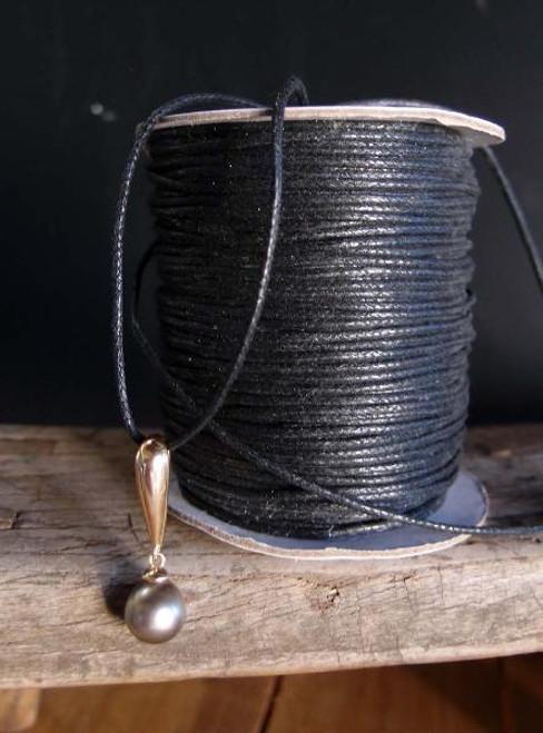 Black Waxed Cotton Cord