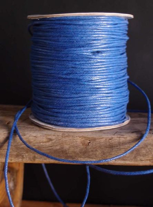 Blue Waxed Cotton Cord