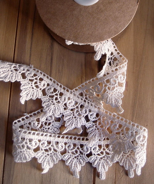 Embroidered Cotton Floral Lace Trim
