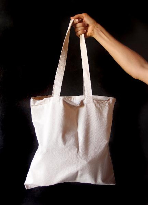 "Cotton Canvas Flat Tote 15""x15"""