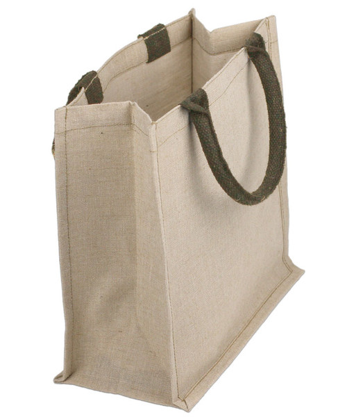 Jute Cotton Blend Shopping Tote