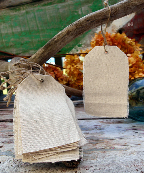 Canvas Hang Tag with Jute Cord