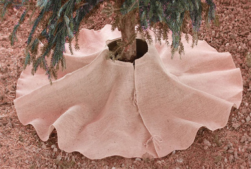 Natural Burlap Christmas Tree Skirt