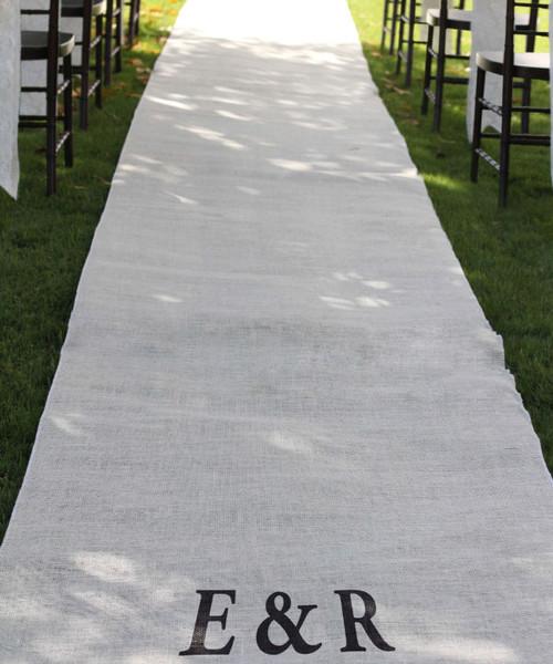 """Burlap Aisle Runner 36"""" x 100 ft. - White"""