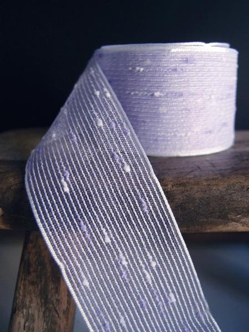 Lavender Tufted Cotton Mesh Ribbon (2 sizes)