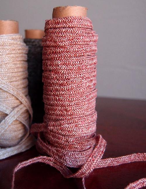 Mauve Faux Linen Braided Cord