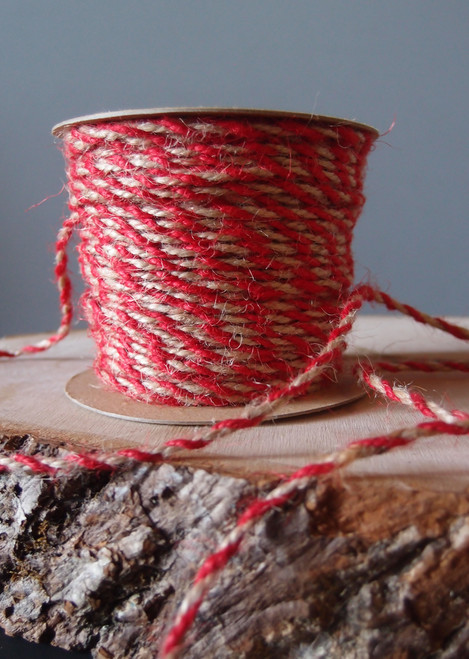 Red Two-Tone Jute Twine (2.5mm)