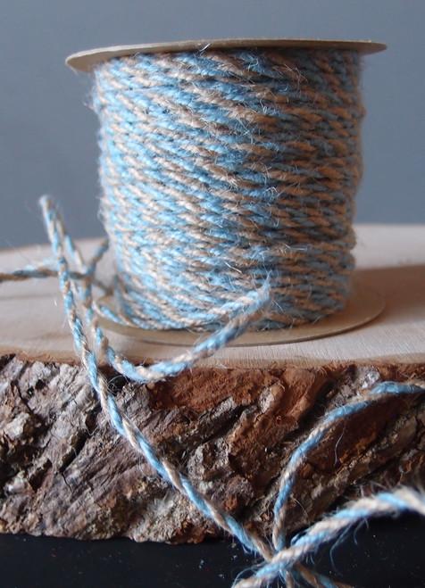 Light Blue Two-Tone Jute Twine (2.5mm)