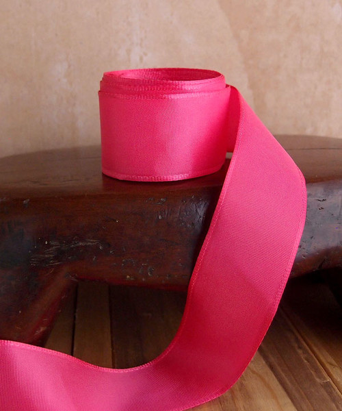 Hot Pink Florist's Choice Ribbon with Wire Edge (2 sizes)