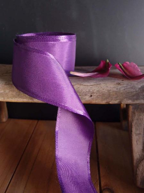 Eggplant Florist's Choice Ribbon with Wire Edge (2 sizes)