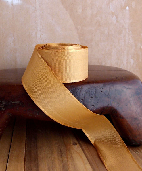 Gold Florist's Choice Ribbon with Wire Edge (2 sizes)