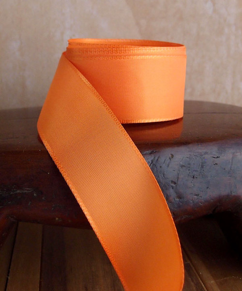 Orange Florist's Choice Ribbon with Wire Edge (2 sizes)