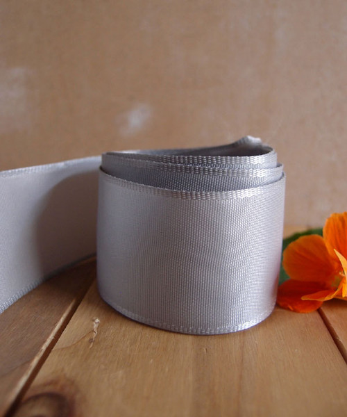 Silver Florist's Choice Ribbon with Wire Edge (2 sizes)
