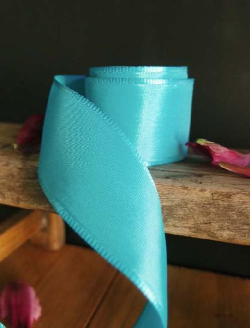 Turquoise Florist's Choice Ribbon with Wire Edge (2 sizes)