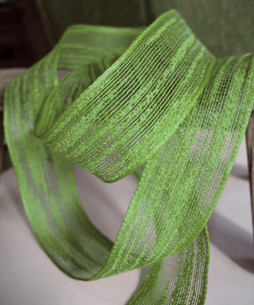 "Natural Style Mesh Ribbon 1 1/2"" x 25 yards - Green"