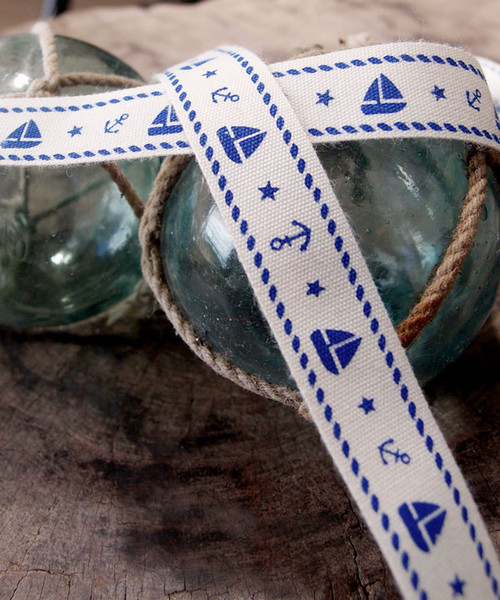 Nautical Printed Cotton Ribbon