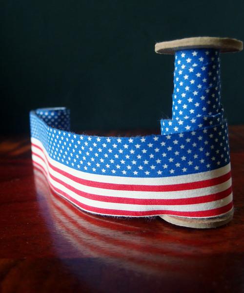 American Flag Printed Cotton Ribbon