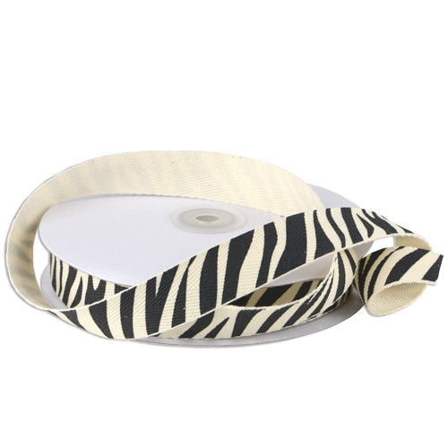Zebra Animal Printed Cotton Ribbon (2 sizes)