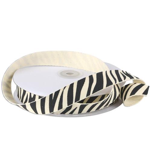 Zebra Animal Printed Cotton Ribbon (2 sizes)