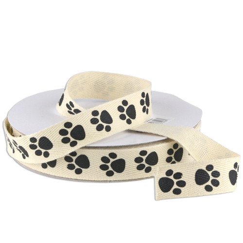 Paw Animal Printed Cotton Ribbon (2 sizes)