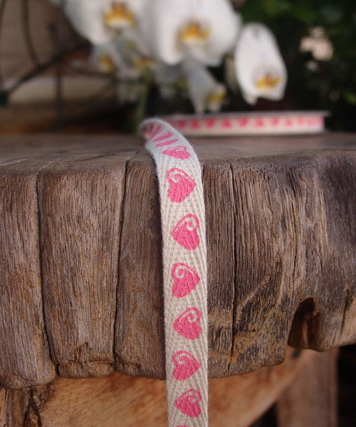 Heart Printed Cotton Ribbon (2 sizes)