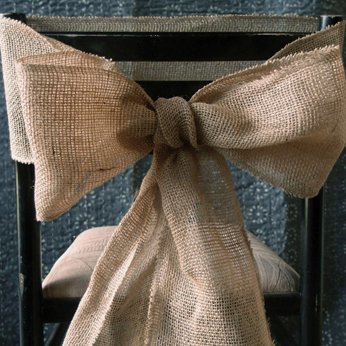Burlap Chair Sash for Weddings and Events 117-02, Wholesale Burlap Chair Sash | Packaging Decor