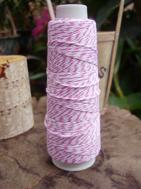 Hot Pink & White Baker's Twine