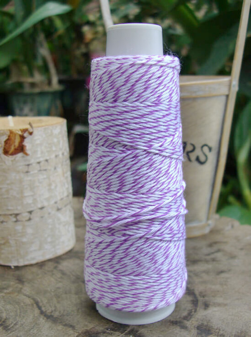 Purple & White Baker's Twine