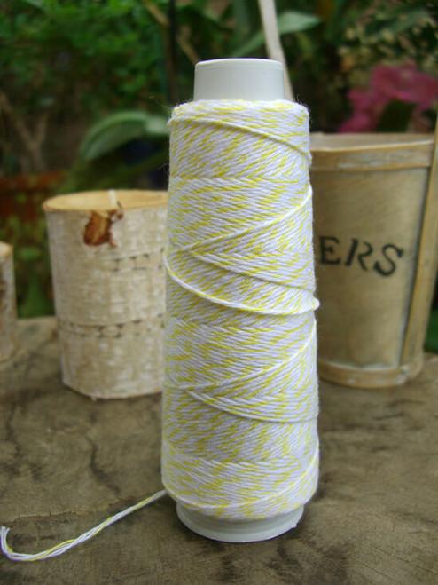 Yellow & White Baker's Twine