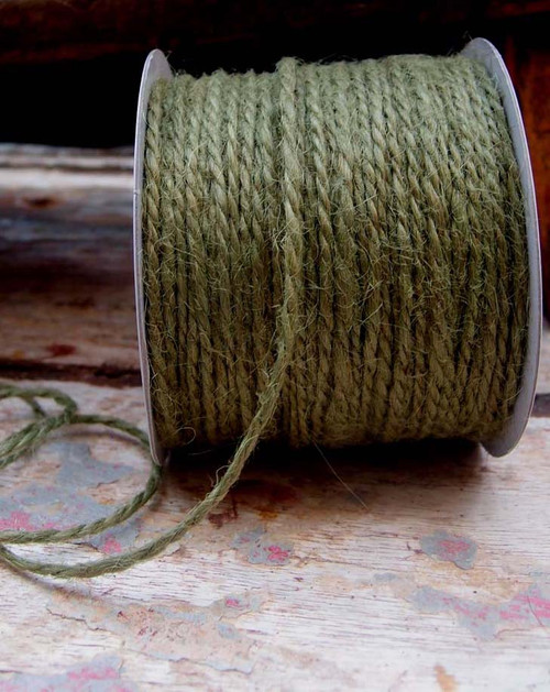 Moss Green Burlap Jute Cord 1.5mm