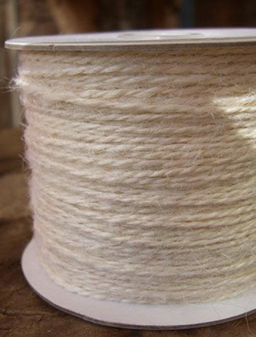 White Burlap Jute Cord 1.5mm