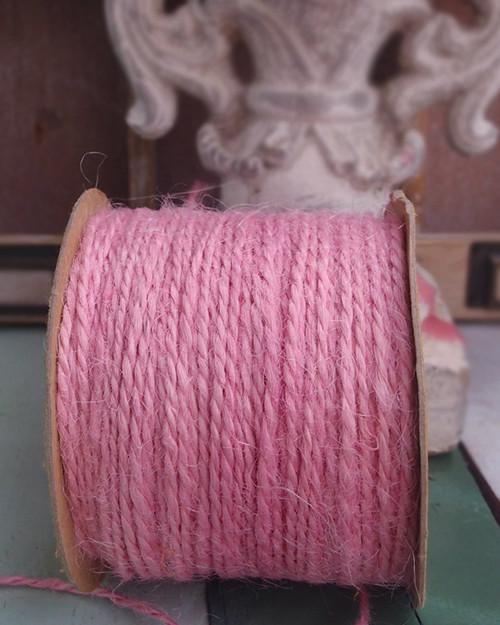 Pink Burlap Jute Cord 1.5mm