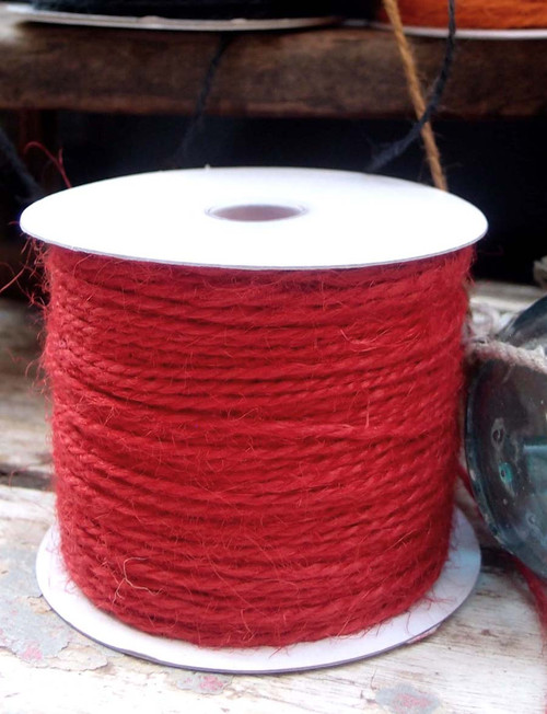 Red Burlap Jute Cord 1.5mm