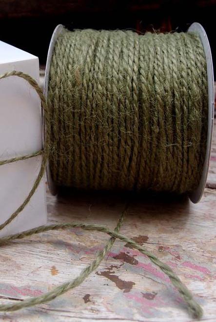 Harvest Green Burlap Jute Cord 1.5mm