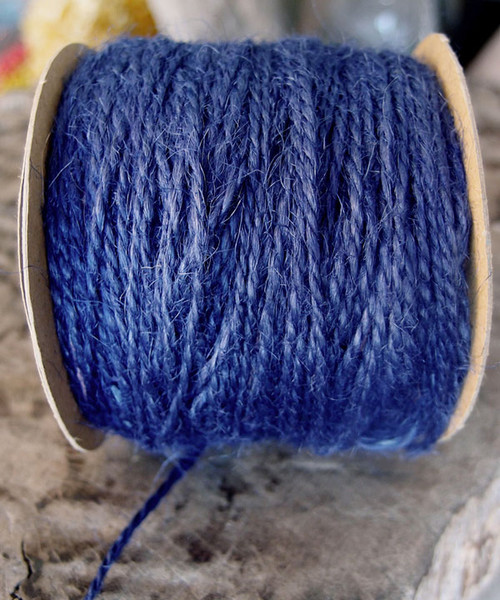 Blue Burlap Jute Cord 1.5mm