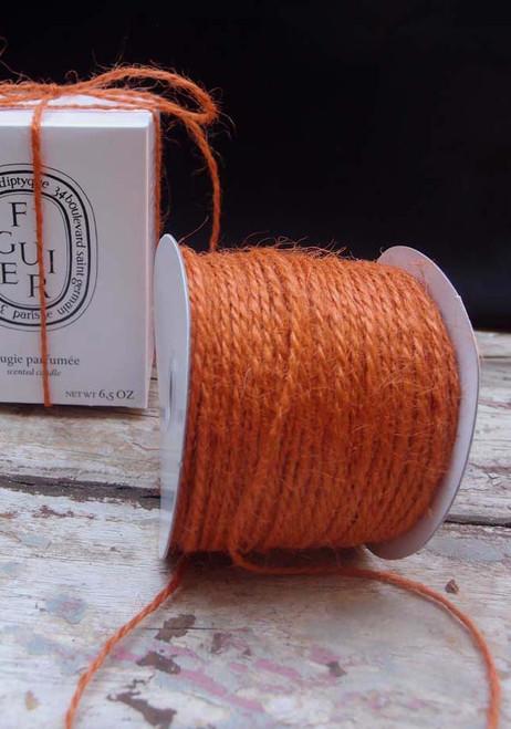 Orange Burlap Jute Cord 1.5mm
