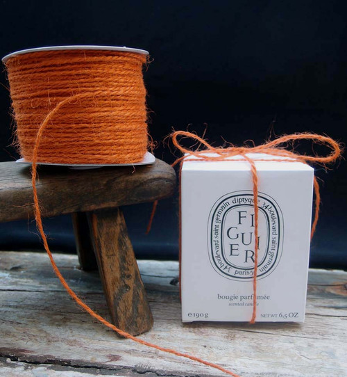Orange Burlap Jute Cord 1.5mm