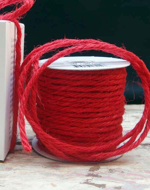 Red Burlap Jute Cord 3.5mm
