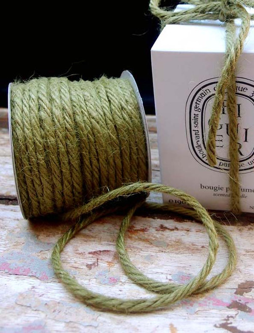 Moss Green Burlap Jute Cord 3.5mm