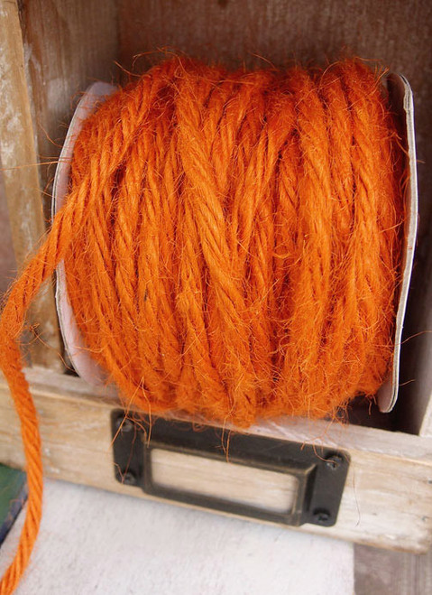 Orange Burlap Jute Cord 3.5mm