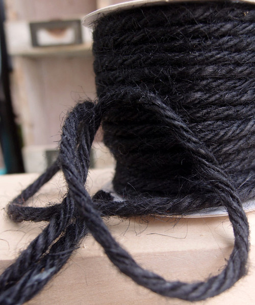 Black Burlap Jute Cord 3.5mm