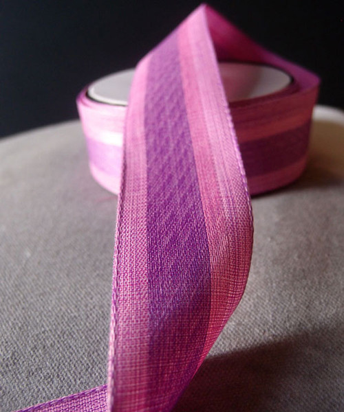 Vintage Cloth Striped Ribbon - Pink