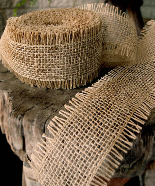 Burlap Jute Ribbon - Natural