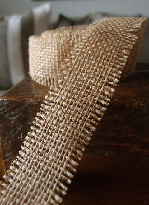 Burlap Ribbon Natural